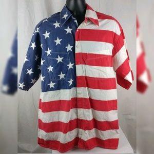Vintage American Flag Shirt No Size Tag